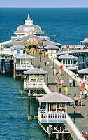 Llandudno Pier  Victorian seaside architecture built 1871 on North Beach of holiday resort of Llandudno, Gwynedd, north Wales, UK
