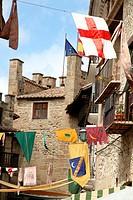 Rubielos de Mora during the Medieval market,Teruel,Spain