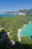 View point to Hat Rai Leh West and Hat Rai Leh East,Krabi province, Thailand
