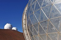 W.M. Keck Observatory on Mauna Kea Volcano atop, Big Island, Hawaii Islands, USA