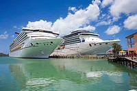 The Port of St  John in Antigua Caribbean