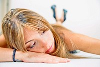 Woman model resting