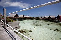 Kapalai resort at Kapalai Island, Borneo, Malaysia