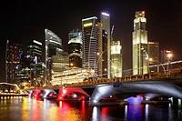 Singapore Skyline at dusk, Singapore