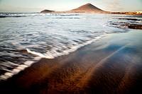 Waves in Médano Beach, Tenerife, Canary Islands, Spain