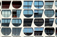 Window Patterns of Holiday Apartments in La Grande-Motte Holiday Resort Hérault France