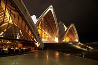 Sydney Opera House front at night
