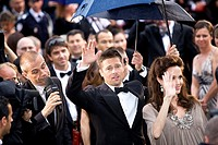 stars and invited to the red carpet arrival of brad pitt and angelina jolie Cannes Film Festival 2008 Maritime Alps, France