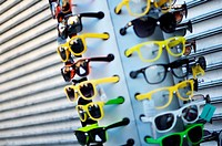 Assorted and colorful sunglasses