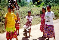 Rural Micronesian people on Pohnpei, Federated States of Micronesia