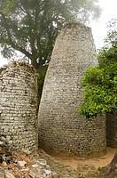 The Conical Tower at the ruined city of Great Zimbabwe