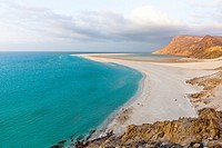 Ditwah lagoon near Qalansiyah, Socotra island, listed as World Heritage by UNESCO, Yemen, Arabia, West Asia.