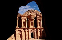 Al Deir Ad-Deir, the Monastery, Archaeological site, UNESCO World Heritage Site, Petra, Jordan, Middle East.