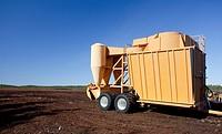 Mobile pneumatic sucking peat harvester / loader JIK-40DF trailer is used when peat is harvested from a peat bog  Location Multaharjunsuo Rautalampi F...