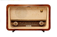 Old radio from 1950 and the years