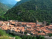 Villefranche-de-Conflent, Vilafranca of Conflent, Languedoc-Roussillon, Eastern Pyrenees, France.