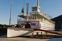 historic paddlewheeler Keno, Dawson City, Yukon, Canada, North America public ground