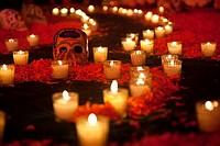 ´Desvestidas Y Alborotadoras´ Ofrenda - Altar offering commemoration of women with special homage to Sor Juana and María Félix - Detail Of calavera sk...
