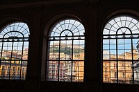 View of Sant´Elmo Castle from the windows of Royal Palace of Naples, Italy