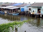 Houses on stilts at Koh Kong, Cambodia