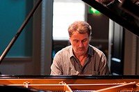 Bobo Stenson, the Swedish Grammy Award winning pianist, photographed during rehearsals for his Bath Festival performance