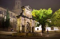 Cathedral with the plaza and fountain in Santa Maria, monumental area of Baeza, Jaen, Andalucia, Spain, auropa,