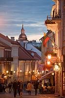 Vilnius  The Old Town  Pilies Street  Castle Street a favorite tourist street