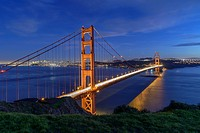 Golden Gate Bridge at dusk, San Francisco, USA