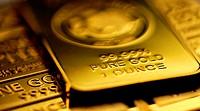 Gold bullion in 1oz bars / ingots