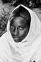 Portrait of a Young Woman Taken During Timkat The Festival of Epiphany, Gondar, Ethiopia