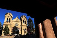 The Cathedral Basilica of St. Francis of Assisi. Santa Fe. New Mexico. USA.