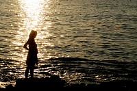 Silhouette on the sea, Vigo, Pontevedra, Spain