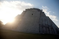 Mayan arqueological site Uxmal, Peninsula Yucatan, Mexico.