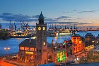 Landungsbrucken at Hamburg Harbour, Germany.
