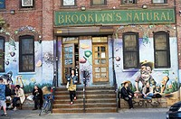 Activity along Bogart Avenue in the Bushwick neighborhood of Brooklyn in New York. The neighborhood is undergoing gentrification changing from a rough...