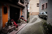 View of the streets of the town of Cue. Llanes, Asturias, Spain.