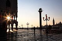 Piazza San Marco, At Dawn, Sunrise, Vencie, Italy.