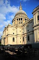 St Paul's Cathedral under afternoon sun. London. England. United Kingdom.