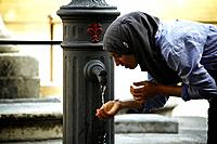 street tap florence italy.