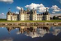 The beautiful Château de Chambord (Chambord Castle) in the Loire Valley, Loir-et-Cher, France, Europe