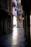 Narrow street, venice Italy.