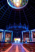 Nave and altar at Liverpool Metropolitan Cathedral, Liverpool, UK.