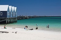 busselton jetty, longest wooden jetty in the southern hemisphere,western australia.