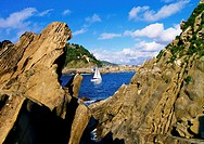 View from Santa Clara Island in Donostia - San Sebastian, Basque Country, Spain.