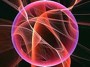 Math visualisation known as cosmic recursive fractal flame.