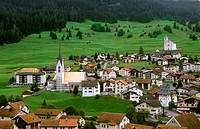 Village of Balzers in Liechtenstein in the mountains in the small country next to Switzerland.