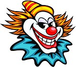 Fun circus clown in cartoon style for humor entertainment design
