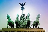 Germany, Berlin, Pariser Platz Square, Brandenburg Gate.