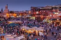 Jemaa el-Fna Square, Marrakech, Morocco.