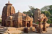 Muktesvara Temple - General view of Mukteshwar temple. Hindu temple dedicated to Shiva. Bhubaneshwar, Odisha, India